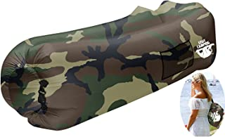 Legit Camping Inflatable Lounger by with Carrying Bag & Pockets for Indoors/Outdoors