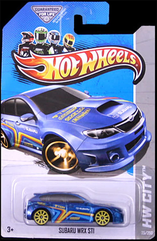 Hot Wheels HW Showroom Subaru WRX STI  25 250 (10 Yellow Spoke Wheel)