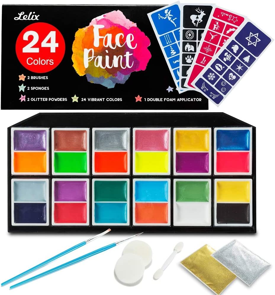 Face Paint Kit Ranking TOP11 Cheap super special price Lelix 24 Colors Paints Ste 40 Body and with