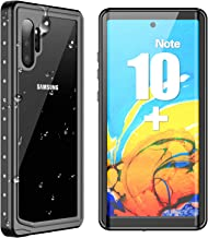 SPIDERCASE Galaxy Note 10+ Plus Waterproof Case, Built-in Screen Protector Fingerprint Unlock with Film, Shockproof Full Body Cover IP68 Waterproof Case for Samsung Galaxy Note 10+ Plus/Pro/5G 2019