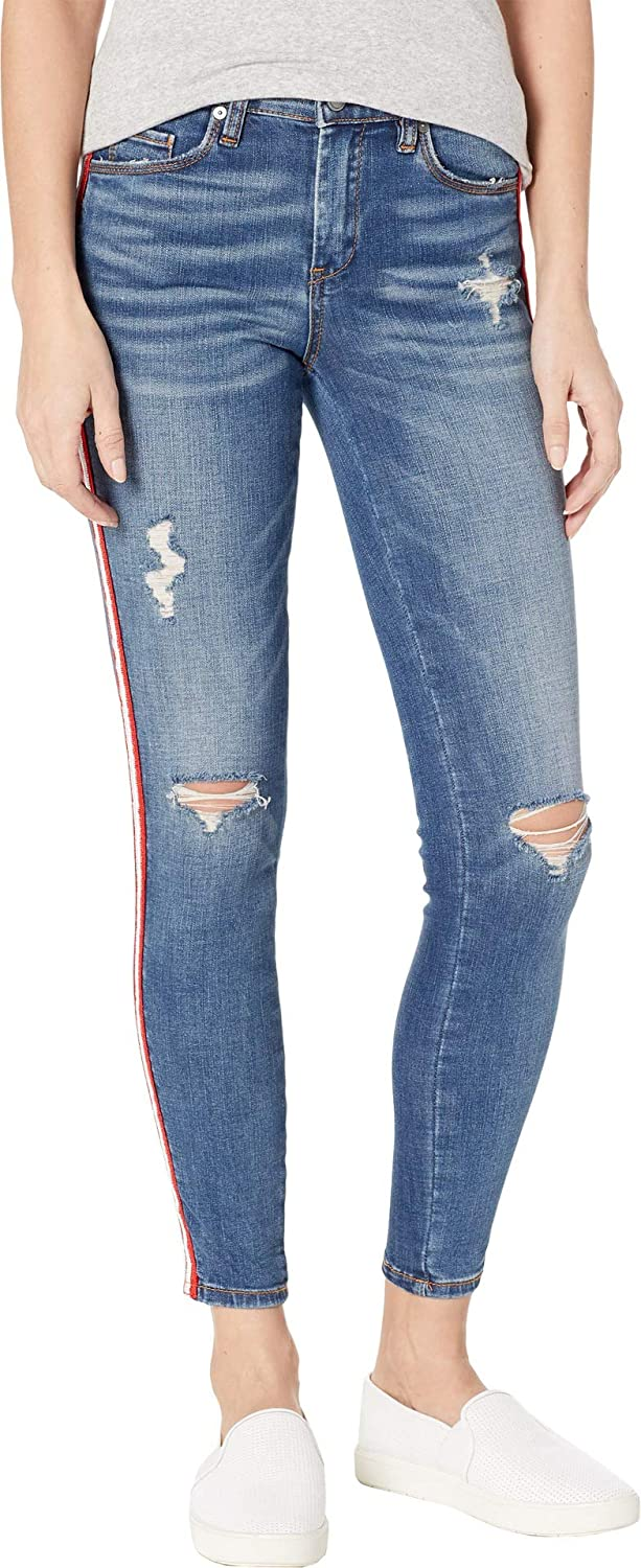 [BLANKNYC] Blank NYC Womens The Bond High Rise Skinny with Racing Stripe in Jersey Girls