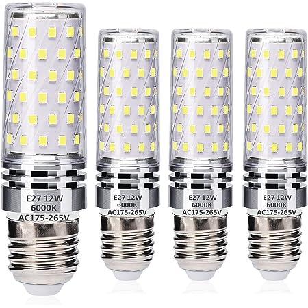 E27 LED Blé Ampoules 12W Blanc Froid 6000K Équivalent à 100W Halogène Ampoules, Edison Vis LED Lumière Ampoules, sans scintillement, sans intensité variable, 1400LM, AC 230V, paquet de 4