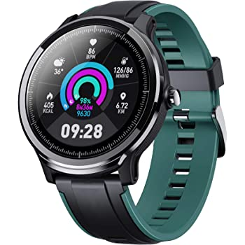 "Smart Watch for Android and iOS Phone, Fitnees Tracker with 1.3"" Full Touch Screen Pedometer Heart Rate Sleep Monitor Tracker IP68 Waterproof Watch for Men Women"