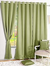 Story at Home Door Curtain, Light Green, 118cm X 215cm, Dbk5011