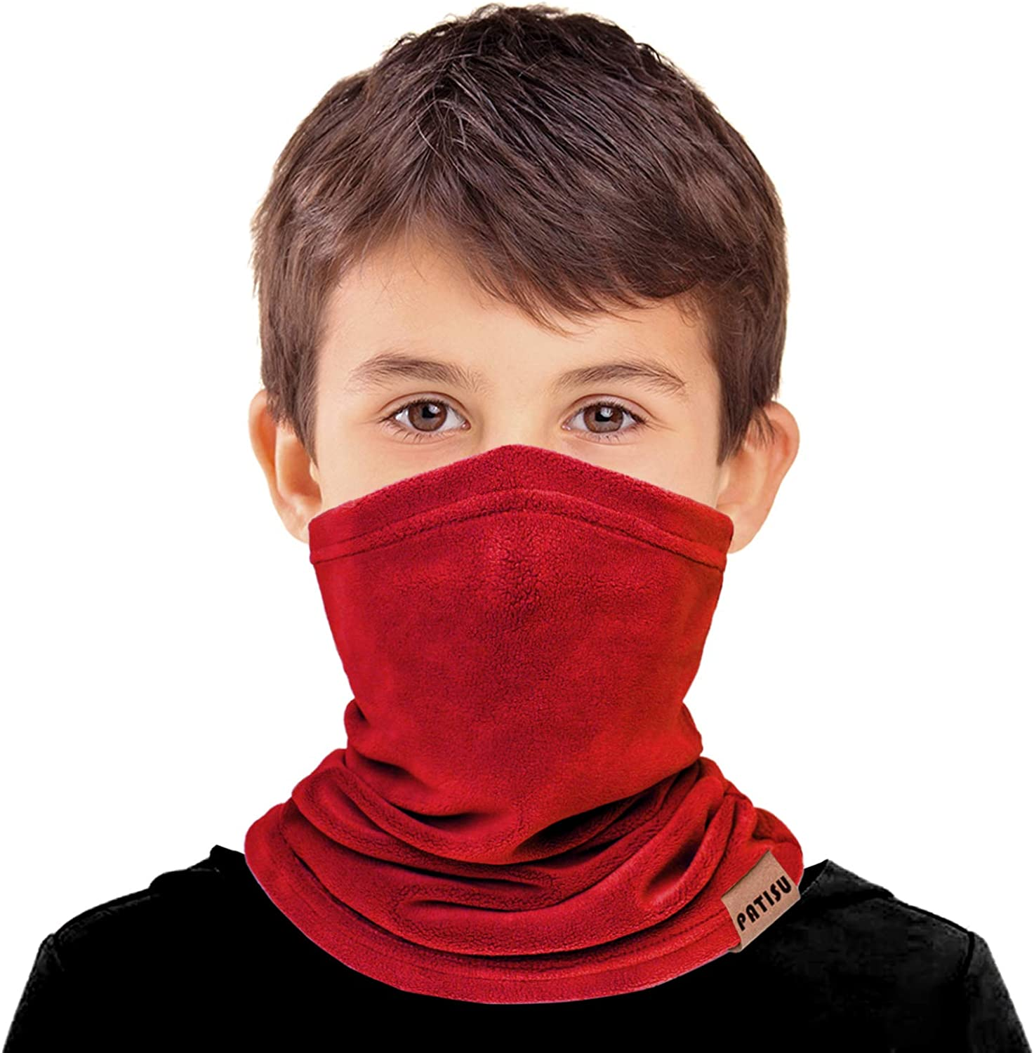 2 PCS Kids Neck Warmer Gaiter Winter Fleece Neck Cover Balaclava Windproof Face Cover Mask for Ski Motorcycle
