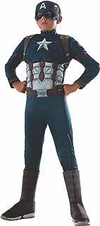 Rubie's Marvel - Captain America : Civil War - Captain America Deluxe Child Costume, Size 8-10Yrs