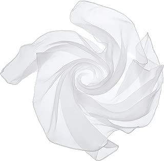 Satinior Chiffon Scarf Square Handkerchief Satin Ribbon...