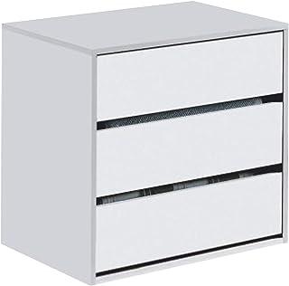 comprar comparacion Habitdesign ARC6030 Cajonera Auxiliar 3 cajones, Blanco Mate, 60 cm (Ancho) x 57 cm (Alto) x 44 cm (Fondo)