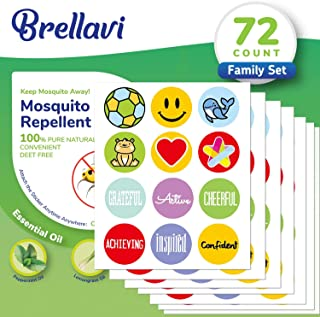 72 Count Mosquito Repellent Stickers, Natural Essential Oil Mosquito Repellent Stickers, Best Mosquito Repellent Stickers for Family