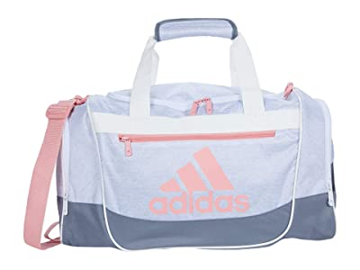 adidas Defender III Small Duffel (Jersey White/Grey/Glory Pink) Duffel Bags