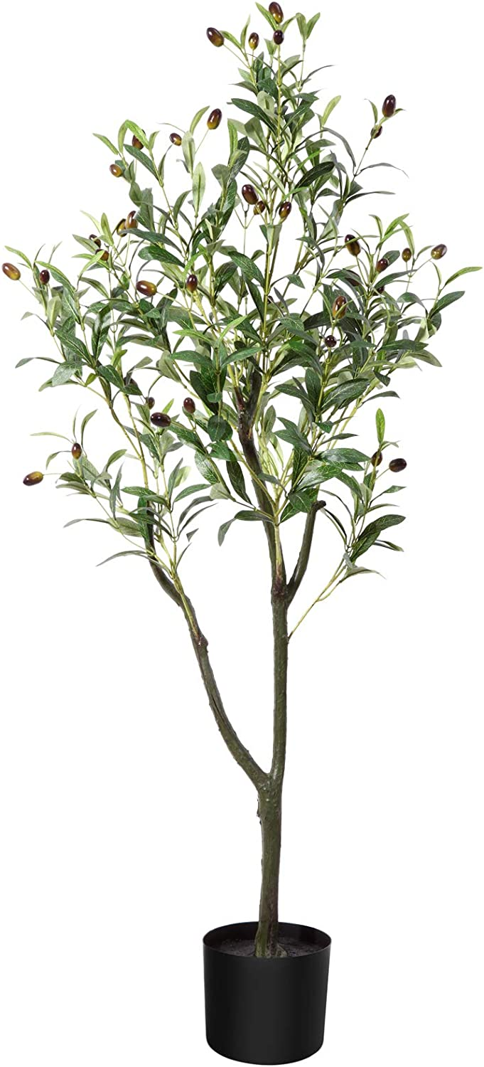 CROSOFMI Artificial Olive Tree Plant 4 Fake Feet Gifts Silk Topiary Max 61% OFF Tr
