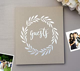Rustic Wedding Guest Book Alternative. Softcover Flat-Lay 8.5
