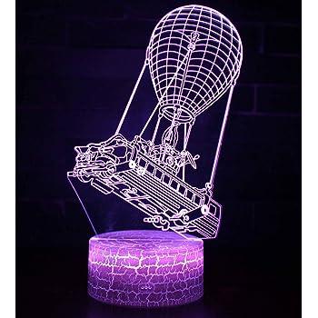 Can 3D Illusion Nuit Lumi/ère Win-Y LED Bureau Table Lampe 7 Couleur Tactile Lampe Maison Chambre Bureau D/écor pour Enfants Danniversaire De No/ël Cadeau