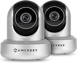2-Pack Amcrest ProHD 1080P WiFi Wireless IP Security Camera - 1080P (1920TVL), IP2M-841 (Silver)