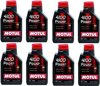 Motul 102773 Set of 8 4100 Power 15W-50 Motor Oil 1-Liter Bottles