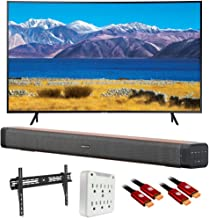 SAMSUNG UN55TU8300 55-inch HDR 4K UHD Smart Curved TV (2020 Model) with Deco Home Soundbar Bundle