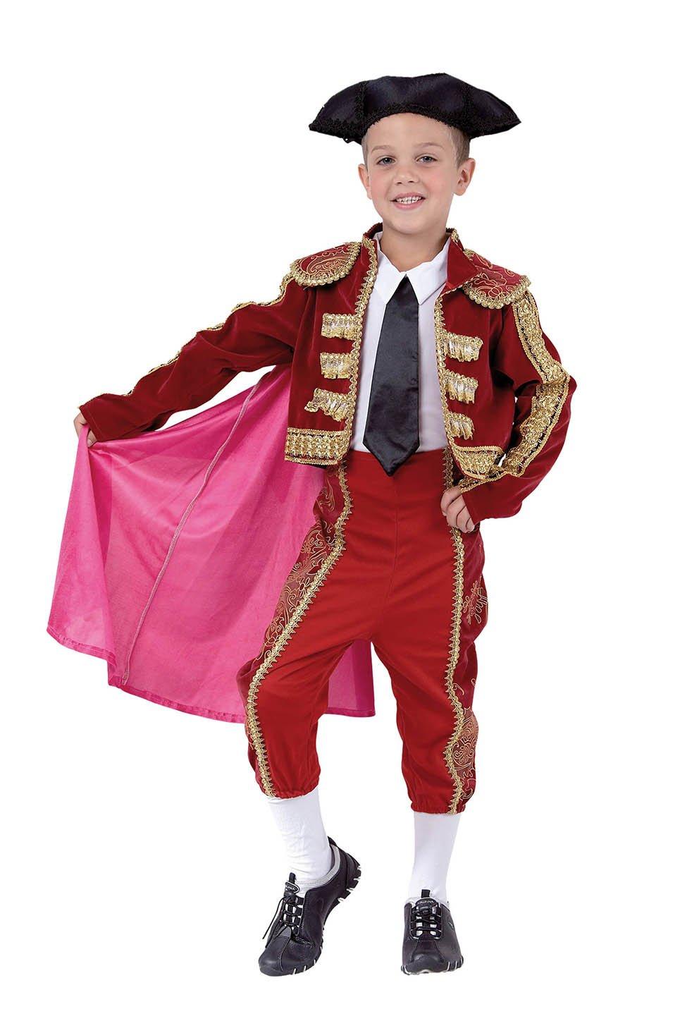 El Carnaval Disfraz torero niño Talla de 8 a 10 años: Amazon.es ...