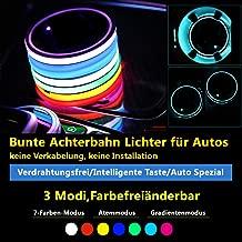 Auto Atmosph/äre Licht Autozubeh/ör Dekorative Lichter Ambience Lights Beleuchtung mit Sound Active Funktion und kabelloser Fernbedienung Dual-USB-Port Autoladeger/ät Autoteile
