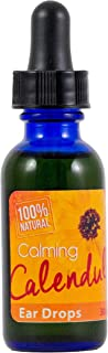 Calendula Ear Drops with Mullein and Garlic Natural Cleaner Aids in Ear Wax Removal Infection and Treatment 30mL Bottle