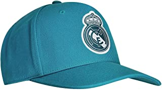 Adidas- Real Madrid Flat Cap Vivid Teal/White Size One Size