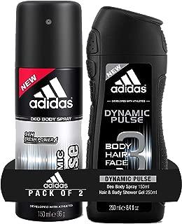 Adidas Dynamic Pulse Deodorant Body Spray, 150ml with Dynamic Pulse Shower Gel, 250ml