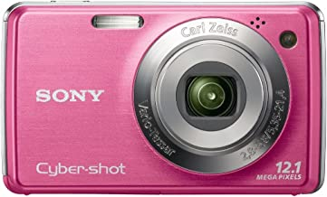 Sony Cybershot DSC-W220 12MP Digital Camera with 4x Optical Zoom with Super Steady Shot Image Stabilization (Light Pink) (OLD MODEL)