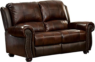 Amazon Com Homelegance Center Hill 83 Quot Bonded Leather