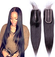 2x6 Lace Closure pre plucked Straight wave with Baby Hair Long Middle Part Way Brazilian Unprocessed Virgin Human Hair Natural Color Wholesale(16 Inch)