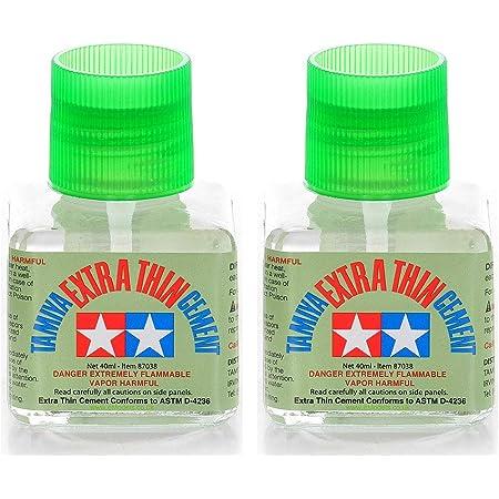 Tamiya 87038 Extra Thin Cement Glue Fine Tip 40ml 2 Pack