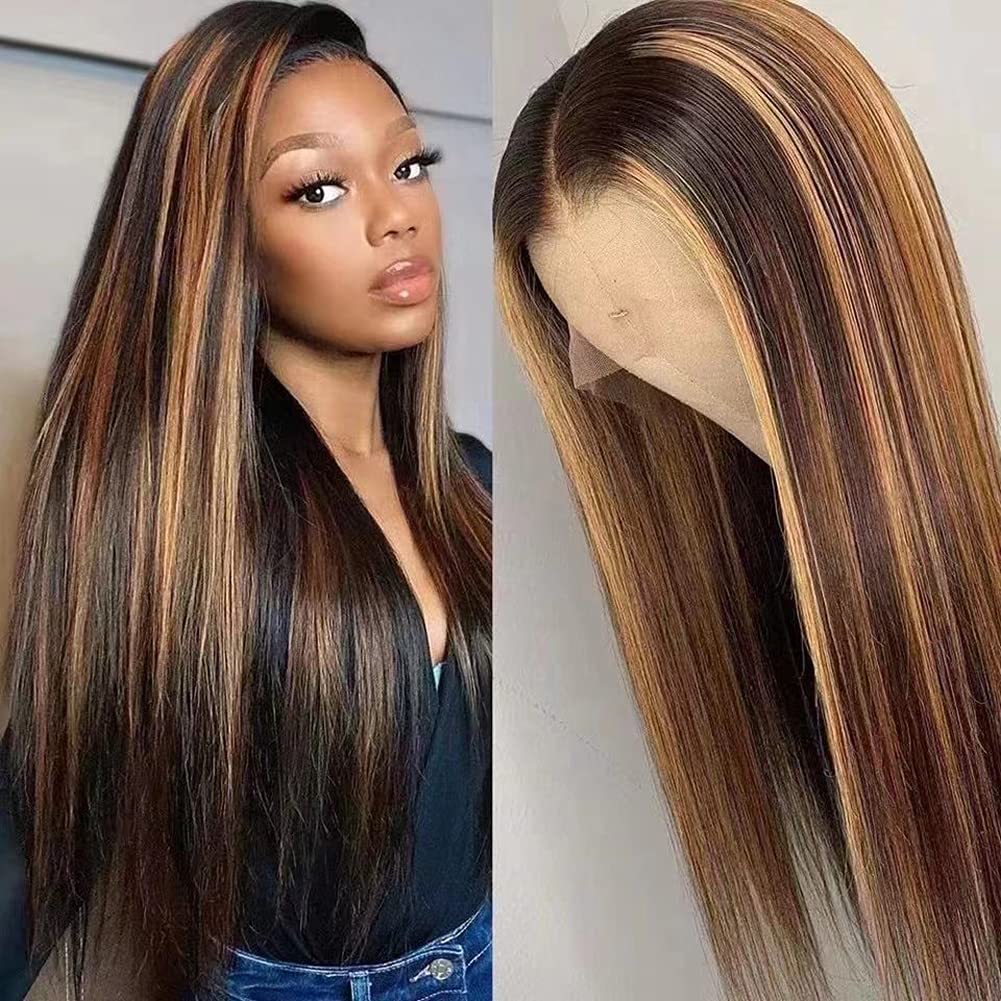 LLF Year-end gift Limited time cheap sale Straight Wig 13x4x1 T Part Lace Frontal Glueless 27 4 Blonde