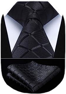 دستمال گردن کراوات HISDERN پیراهن بافته شده کلاسیک و پیراهن مربع