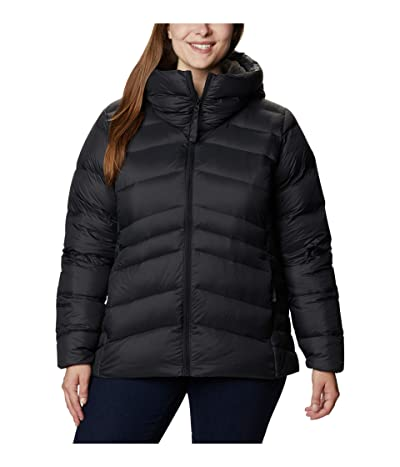 Columbia Plus Size Autumn Park Down Hooded Jacket (Black/Shark) Women