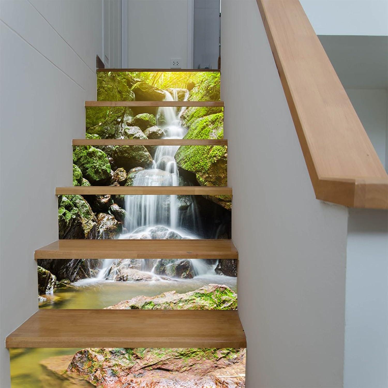 diseños exclusivos GFEI Alpine Cascada Creative Home Stair Corrojoor Corrojoor Corrojoor Paso Decoracion Pintura Escalera colocada a   3D 3D Sticker  primera reputación de los clientes primero