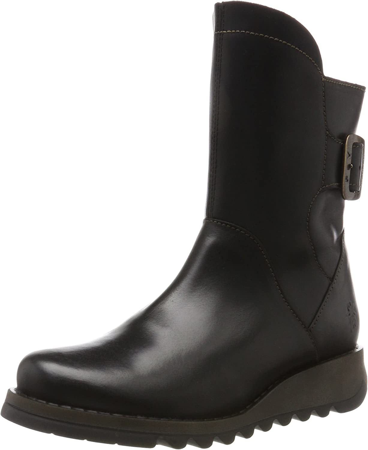 Fly London Sien Warm - Black Rug (Leather) Womens Boots