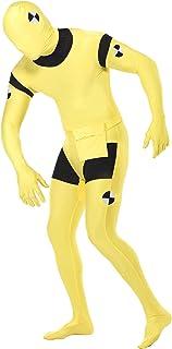 Smiffys, Herren Second Skin Crashtest-Dummy Kostüm, Ganzkörperanzug mit Bauchtasche, Größe: M, 23709