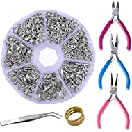 Supla Jewelry Making findings Open Jump Rings 4mm 5mm 6mm 7mm 8mm 10mm 21 Gauge and 19...