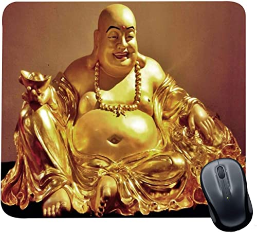 Family Shoping Year Gifts Item Office Printed Laughing Buddha Mousepad for Computer PC Laptop