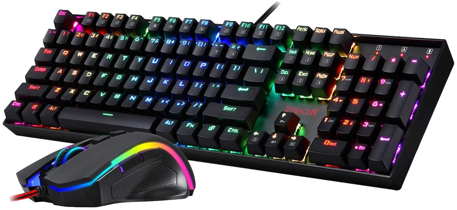 Redragon K551-RGB-BA Mechanical Oakland Mall Gaming Keyboard Combo Raleigh Mall and Mouse