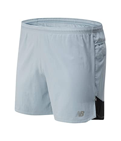 New Balance Impact Run 5-Inch Shorts (Light Slate) Men