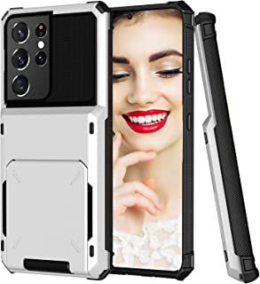 Compatible with Samsung Galaxy S21 Plus Case Wallet with Credit Card Holder Slot for Women Heavy Duty Shockproof Cover Ant...