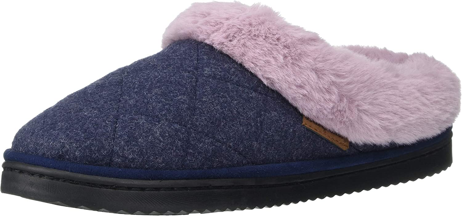 Dearfoams Women's Cora Quilted Microwool Clog Slipper