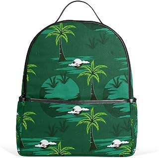 Dunkelgrüner Kokosnuss-Schulrucksack, Segeltuch-Rucksack, große Kapazität, lässiger Reise-Tagesrucksack für Kinder, Mädchen, Jungen, Kinder, Studenten, 3–9 Jahre alt
