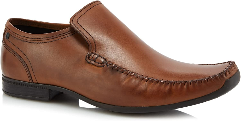 Base London Men Tan Leather 'Acrobat' Slip-On shoes