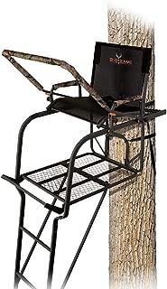 BIG GAME Hunter HD 1.5 Treestand - Adjustable Shooting Rail, Extra Wide/Deep Platform for Wide Stances, Flex Tek Comfort Seating 18.6' Tall