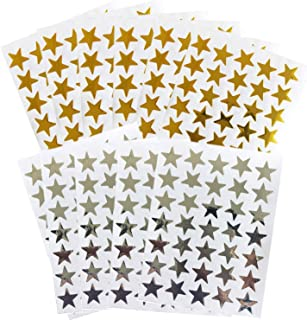 Kenkio 3500 Count Star Stickers Gold Silver Self-Adhesive Stickers Stars