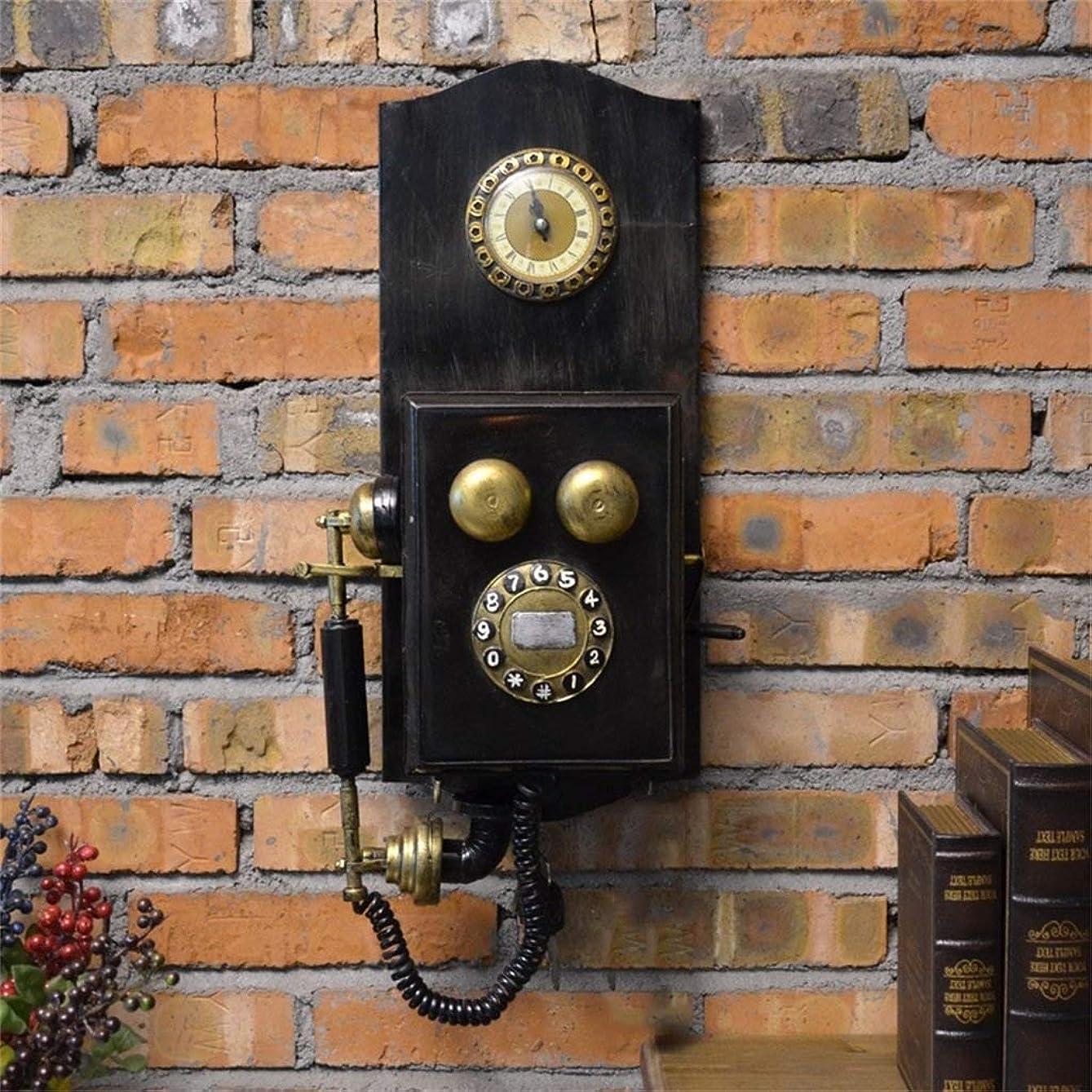 服を洗う娯楽成功した壁時計レトロノスタルジア電話モデルリビングルームの装飾クリエイティブ人格ファッションカフェバーの装飾壁の装飾
