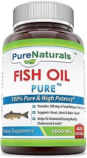 Pure Naturals Fish Oil 1000 mg Soft Gels, 400 Count