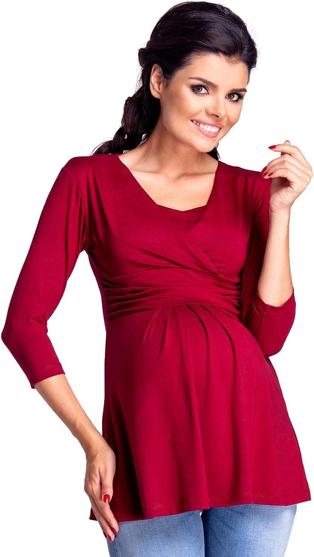 Womens Maternity Nursing Top Layered Neckline Breastfeeding 945c Zeta Ville