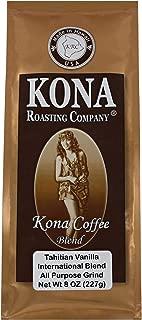 Kona Roasting Company Tahitian Vanilla Flavored Coffee Blend, Ground Coffee (8 oz)