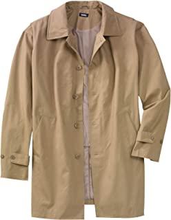 KingSize Men's Big & Tall Tall Water-Resistant Trench Coat